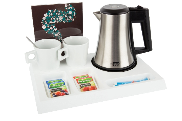 Coffee and tea facilities with small kettle STAR B-TRAY SIGNUM