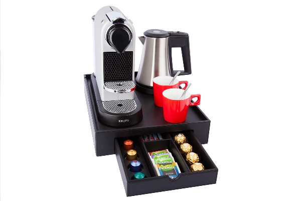 Coffee and tea facility for hotel room | B-TRAY SPACE