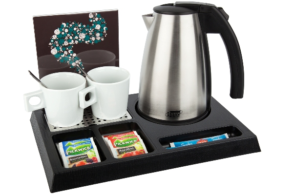 Coffee and tea facility for hotel room with 1.0 litre kettle | B-TRAY STAY