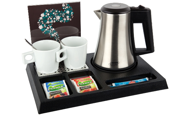 Coffee and tea facility ABS / plastic with small kettle | B-TRAY STAY