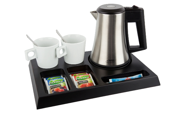 Coffee and tea tray solid beech black brown | B-TRAY SIGNUM