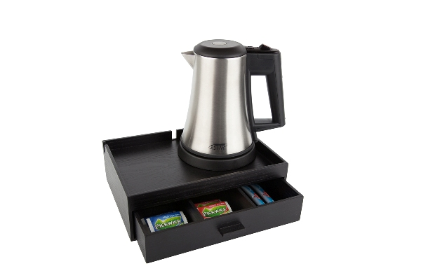 Coffee and tea tray with 0.5 litre kettle | B-TRAY SMART