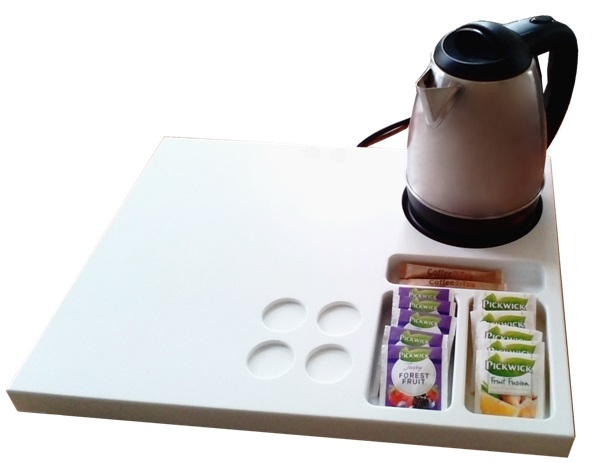 Custom made hospitality tray white | B-TRAY Hotel Supplies