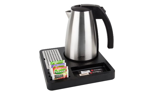 Hospitality tray for hotels with 1.0L kettle | B-TRAY SQUARE