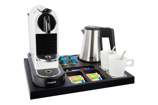 Hospitality tray with small kettle SIESTA