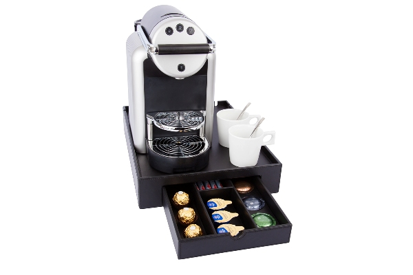 Hospitality tray with space for Nespresso machine ZENIUS | B-TRAY