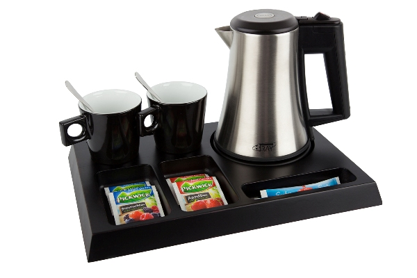 Hospitality trays with 0.5 litre hotel water kettle STAR | B-TRAY SIGNUM