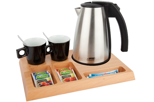 Hospitality trays with 1.0 litre hotel kettle | B-TRAY SIGNUM