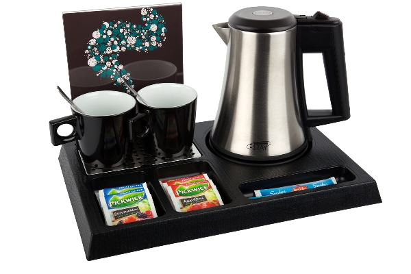 Hotel trays ABS with_eco-friendly hotel water kettle | B-TRAY STAY