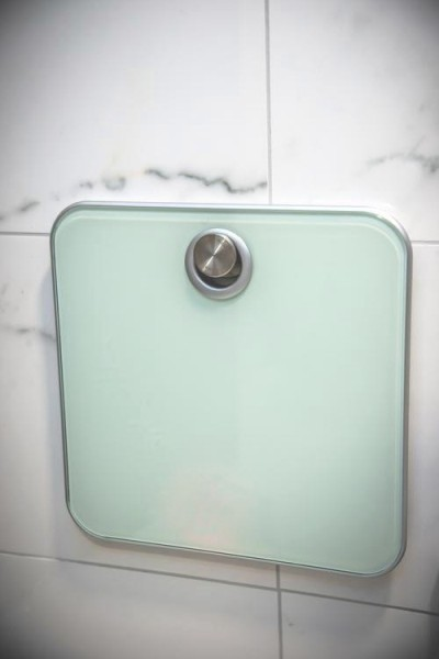 B-TRAY weighing scale in bathroom at Kreis Residenz München