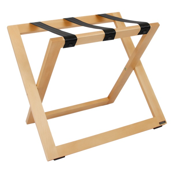 Luggage rack STAND for hotels natural beech | B-TRAY hotel supplies