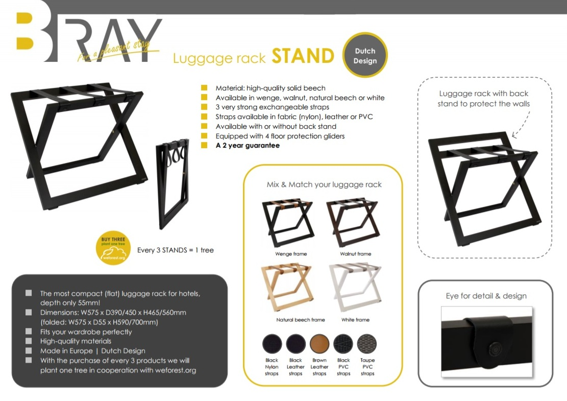 Luxury luggage racks for hotels | B-TRAY Hotel Supplies