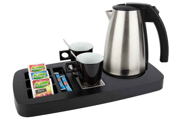 Welcome tray for coffee and tea | B-TRAY SENSE