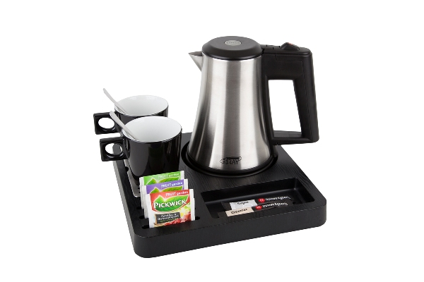 Welcome tray for coffee and tea on every hotel room | B-TRAY SQUARE