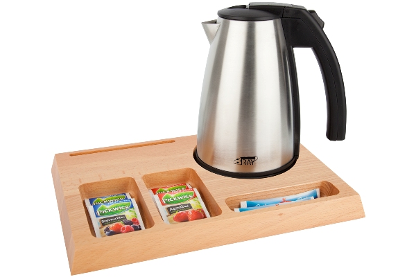 Welcome tray with 0.5L hotel water kettle | B-TRAY SIGNUM