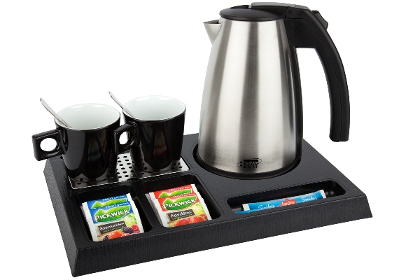Welcome tray with 1.0 litre hotel water kettle | B-TRAY STAY