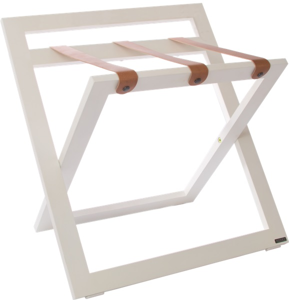 White luggage rack for hotel B-TRAY hotel supplies