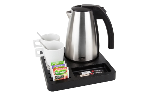 Courtesy tray black with 1.0L kettle | B-TRAY SQUARE