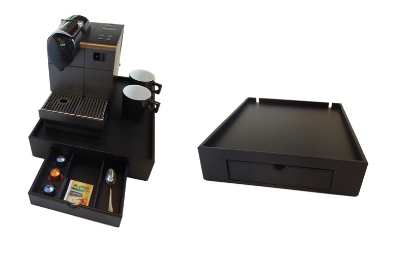 PU leather welcome tray for Nespresso machine B-TRAY SPACE