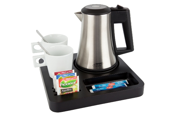 Hospitality tray black brown with 0.5 litre kettle B-TRAY SLIM