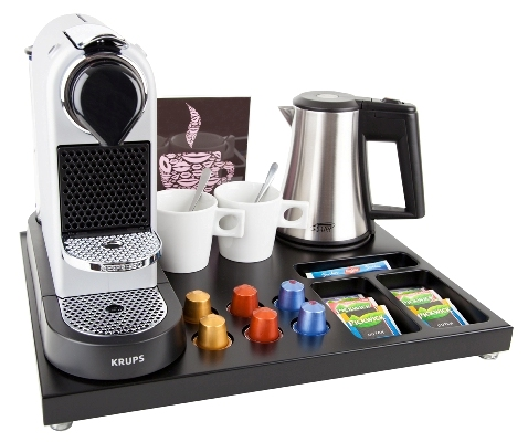 Hospitality tray for Nespresso machine and hotel kettle B-TRAY SUPREME