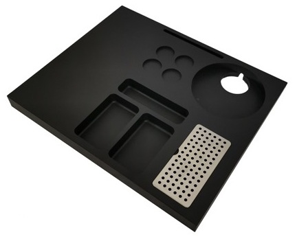 Hospitality tray of ABS for coffee machine B-TRAY SIESTA