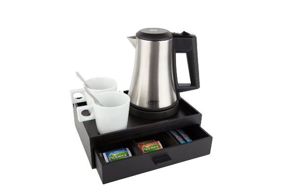 Hospitality tray white porcelain cups | B-TRAY SMART
