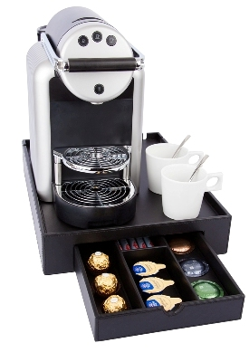 Hospitality tray B-TRAY SPACE with space for Nespresso machine ZENIUS