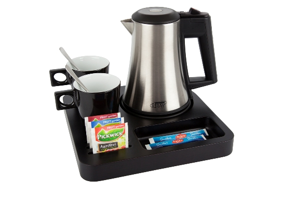 Hospitality trays for coffee and tea on every hotel room B-TRAY SLIM