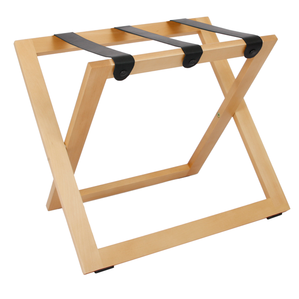 Hotel luggage rack STAND natural beech B-TRAY hotel supplies