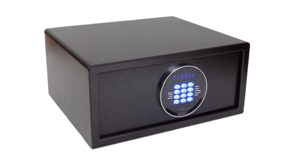 Safe for hotels with blue LED light | B-TRAY Hotel Supplies