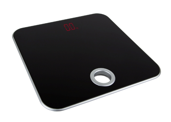 Scale for hotels with large red display B-TRAY