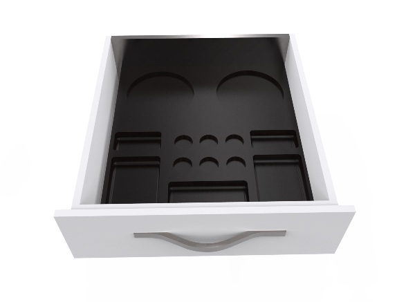 Tailor made welcome tray in drawer | B-TRAY Hospitality Trays