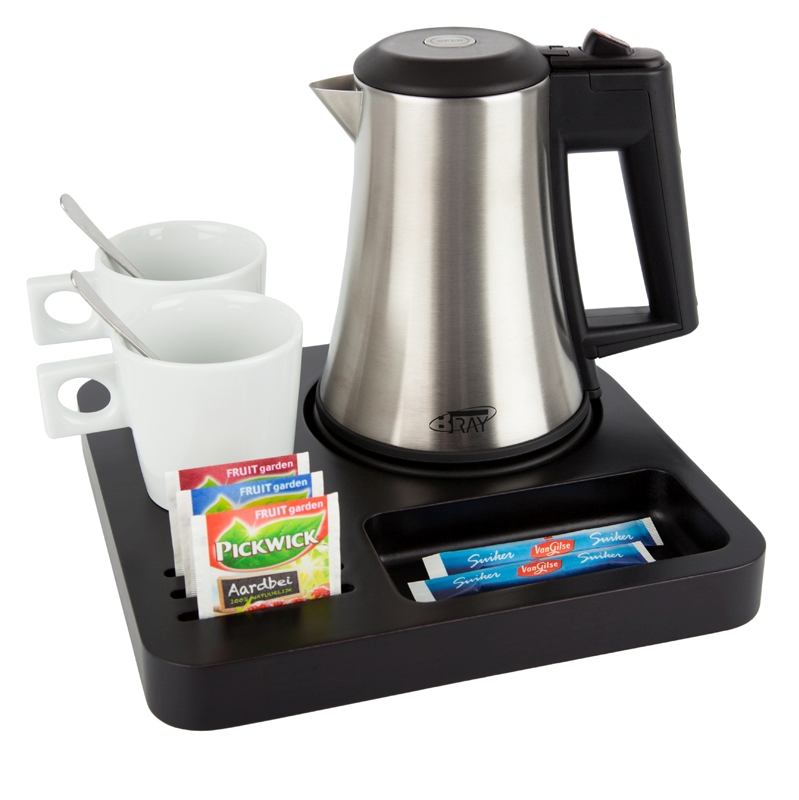 Welcome tray B-TRAY SLIM with hotel kettle