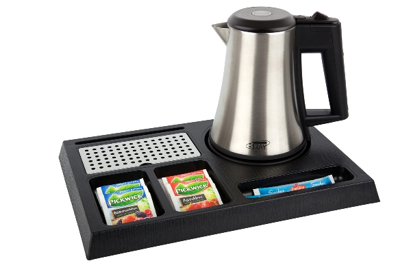 Welcome tray for hotels with 0.5L hotel water kettle | B-TRAY STAY
